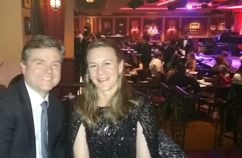 Carolyn Alongi McDonough and Brian McDonough at Feinstein's 54Below Broadway's Got Talent Competition May 22, 2018