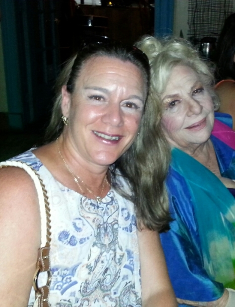 Carolyn with Rene'e Taylor of My Life on a Diet post-show at NOIAW dinner July 19, 2018